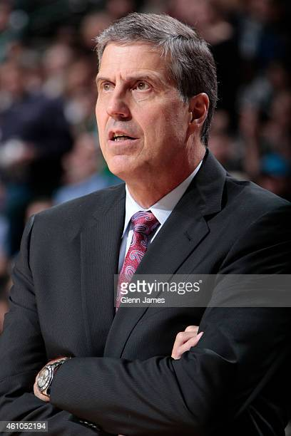 Randy Wittman of the Washington Wizards coaches against the Dallas Mavericks on December 30 2014 at the American Airlines Center in Dallas Texas NOTE...