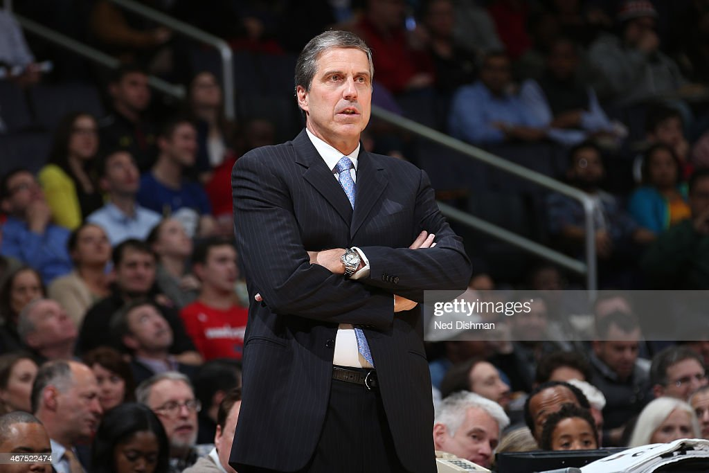 WASHINGTON DC MARCH 25 Randy Wittman of the Washington Wizards coaches against the Indiana Pacers on March 25 2015 at the Verizon Center in...
