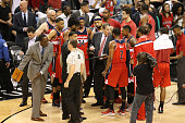 Randy Wittman of the Washington Wizards during Game One of the Eastern Conference Quarterfinals against the Toronto Raptors during the NBA Playoffs...