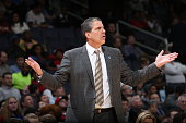 Randy Wittman of the Washington Wizards during the game against the Philadelphia 76ers on April 1 2015 at the Verizon Center in Washington DC NOTE TO...
