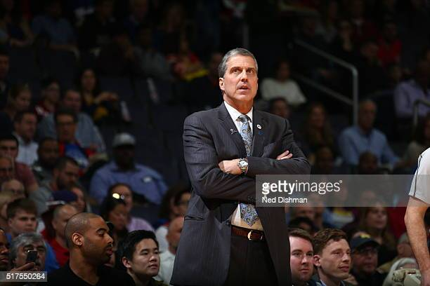 Randy Wittman of the Washington Wizards is seen against the Minnesota Timberwolveson March 25 2016 at Verizon Center in Washington DC NOTE TO USER...