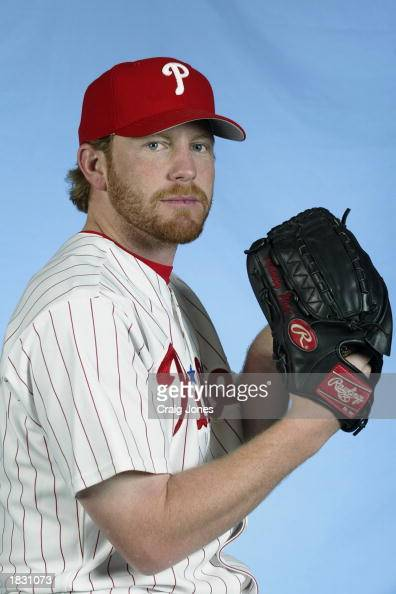 Randy Wolf of the Philadelphia Phillies poses for a portrait during the Phillies Media Day at Jack Russell Stadium in Clearwater Florida