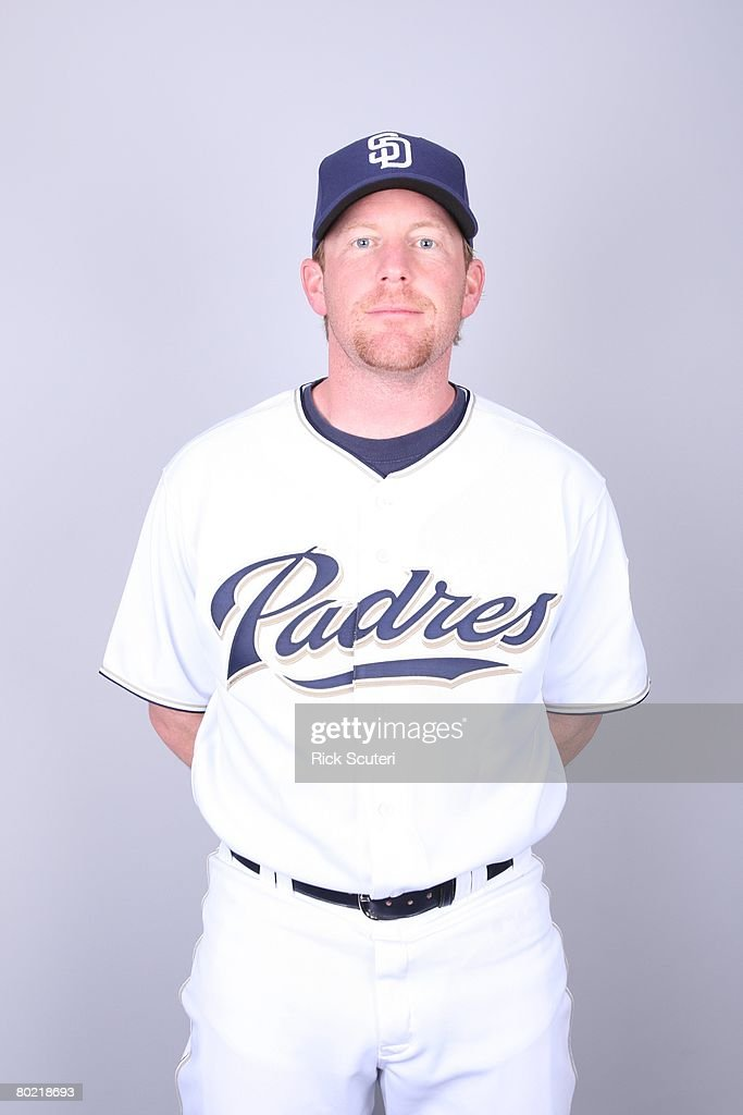 Randy Wolf of the San Diego Padres poses for a portrait during photo day at Peoria Stadium on February 22, 2008 in Peoria, Arizona.