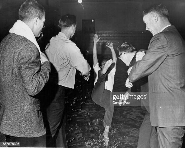FEB 27 1963 MAR 6 1968 'Range Boss' Gets Sample Punishment Getting an example of the probable 'fate' awaiting the losing team captain in the...