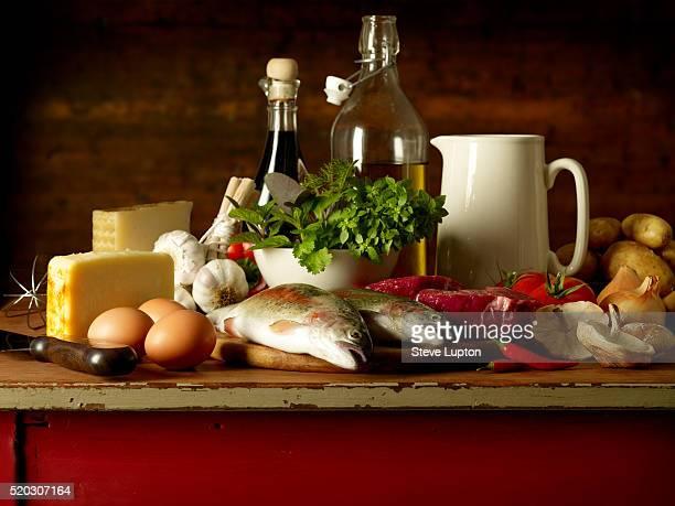 Range of Fresh Ingredients for Cooking