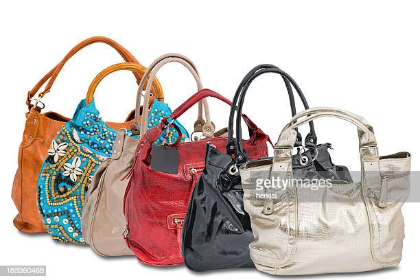A range of women's handbags in various colors and styles