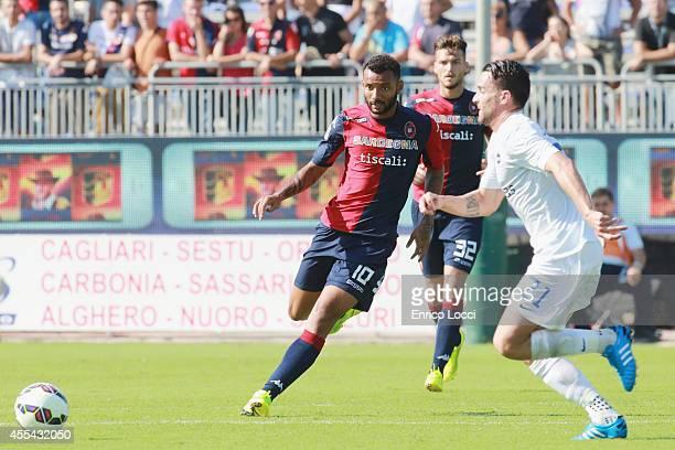 Rangel Da Silva Caio in action during the Serie A match between Cagliari Calcio and Atalanta BC at Stadio Sant'Elia on September 14 2014 in Cagliari...