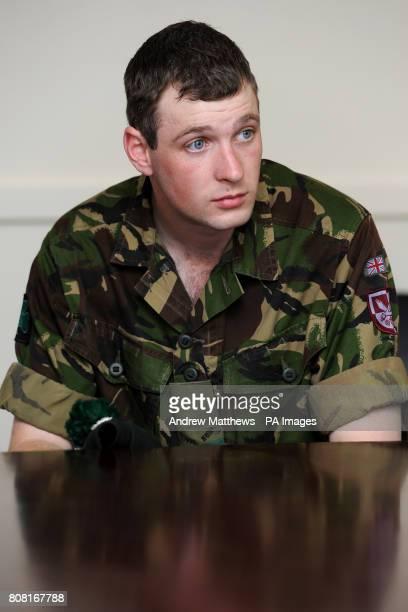 Ranger Brendon O'Mahony at Clive Barracks Ternhill Shropshire