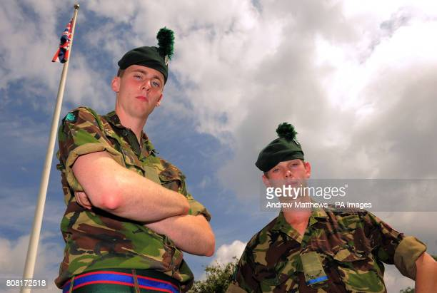 Ranger Michael Maguire and Ranger Blane Millar at Clive Barracks Ternhill Shropshire