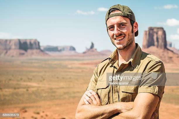 Ranger smiling on the Tribal National Park