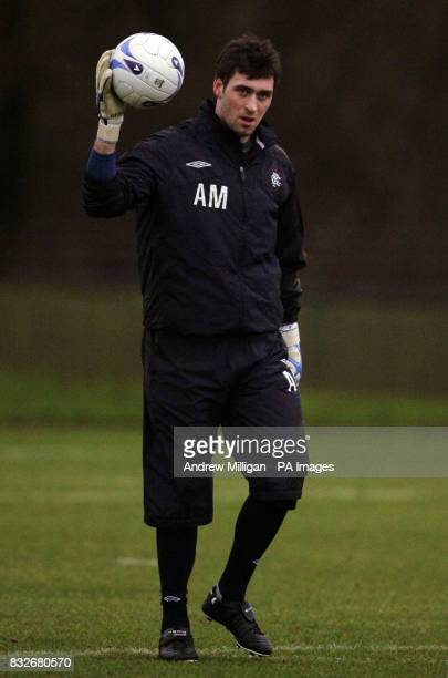 Rangers Allan McGregor during a training session at Murray Park Glasgow