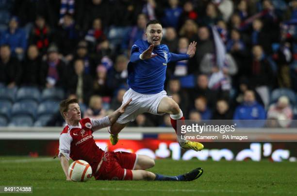 Ranger's Barrie McKay and Stirling's Brian Allison during the Irn Bru Scottish Division Three match at Ibrox Glasgow