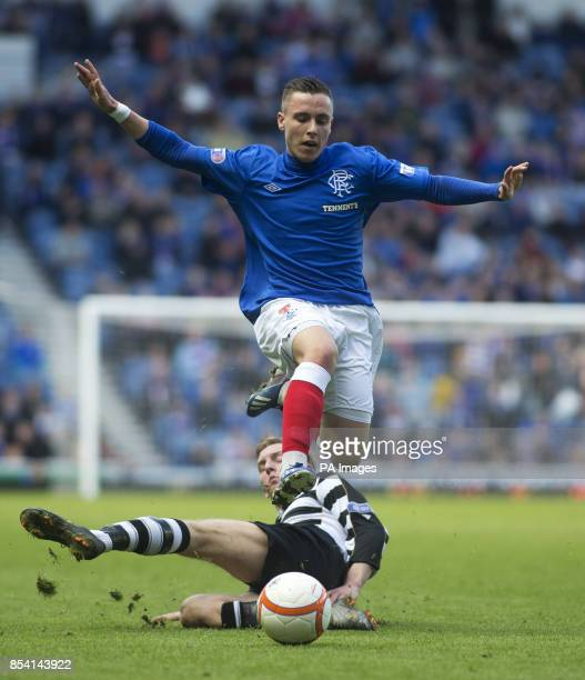 Rangers' Barrie McKay escapes the challenge of East Stirlingshire's Scott Maxwell during the IRNBRU Scottish Third Division at Ibrox Glasgow