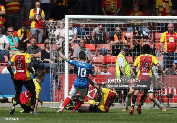 Rangers' Barrie McKay scores his side's first goal of the game during the Ladbrokes Scottish Premiership match at the Firhill Stadium Glasgow
