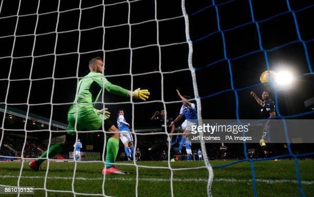 Rangers' Carlos Pena scores his side's second goal of the game during the Ladbrokes Scottish Premiership match at McDiarmid Park Perth