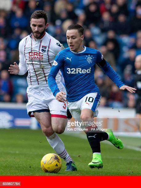 Rangers FC via Press Association Images Rangers' Barrie McKay runs away from Ross County's Jason Naismith during the Ladbrokes Premiership match at...
