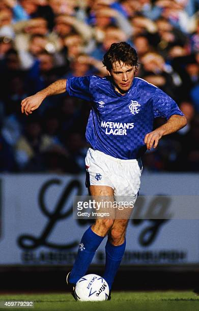 Rangers forward Ally McCoist in action during an Old Firm game at Ibrox on October 17 1987 in Glasgow Scotland
