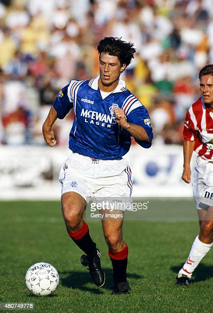 Rangers forward Brian Laudrup in action during a pre season friendly in July 1996 in Sweden