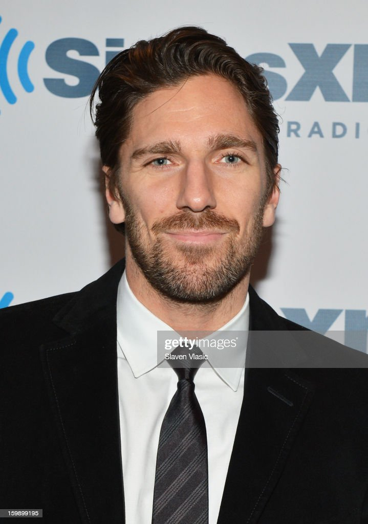 NY Rangers goaltender and reigning Vezina Trophy winner Henrik Lundqvist visits SiriusXM's 'Mad Dog Unleashed' at the NHL Powered by Reebok Store on January 22, 2013 in New York City.