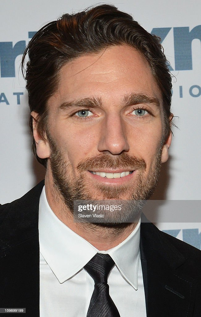 NY Rangers goaltender and reigning Vezina Trophy winner <a gi-track='captionPersonalityLinkClicked' href=/galleries/search?phrase=Henrik+Lundqvist&family=editorial&specificpeople=217958 ng-click='$event.stopPropagation()'>Henrik Lundqvist</a> visits SiriusXM's 'Mad Dog Unleashed' at the NHL Powered by Reebok Store on January 22, 2013 in New York City.