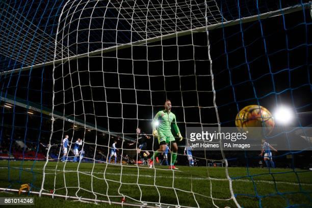 Rangers' Graham Dorrans celebrates scoring his side's third goal of the game during the Ladbrokes Scottish Premiership match at McDiarmid Park Perth