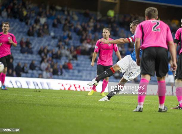 Rangers' Lee McCulloch scores his teams 4th goal during the Petrofac Training Cup Second Round match at Ibrox Stadium Glasgow