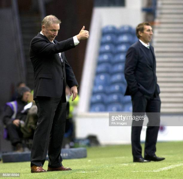 Rangers manager Ally McCoist during the Petrofac Training Cup match at Ibrox Glasgow