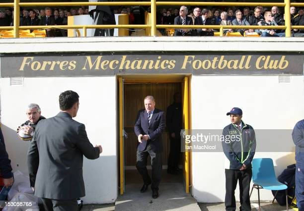 Rangers Manager Ally McCoist walks out the tunnel prior to the William Hill Scottish Cup match between Forres Mechanics and Rangers at Mosset Park on...