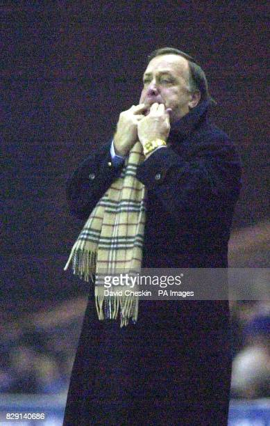 Rangers manager Dick Advocaat during their Scottish Premier League match at the Ibrox stadium in Glasgow