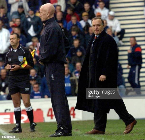 Rangers manager Dick Advocaat watches as his side crash to a 30 home defeat against old rivals Celtic in the Scottish Premier League match at Ibrox...