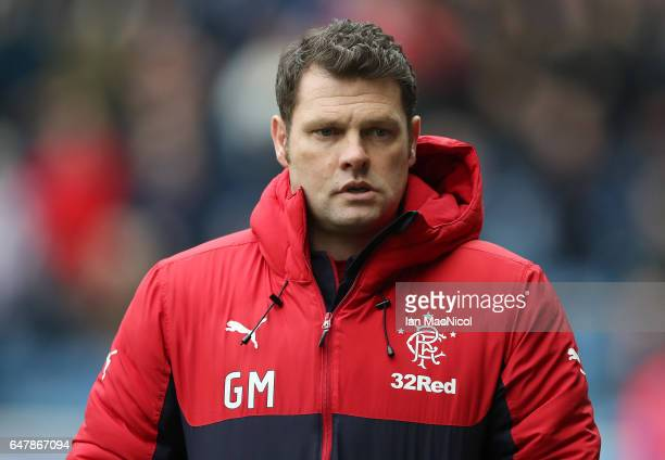Rangers manager Graeme Murty is seen during the Scottish Cup Quarter final match between Rangers and Hamilton Academical at Ibrox Stadium on March 4...