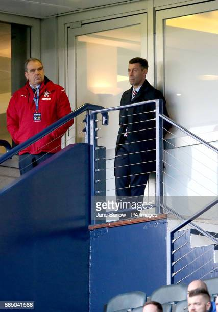 Rangers manager Pedro Caixinha after being sent to the stand during the Betfred Cup semifinal match at Hampden Park Glasgow