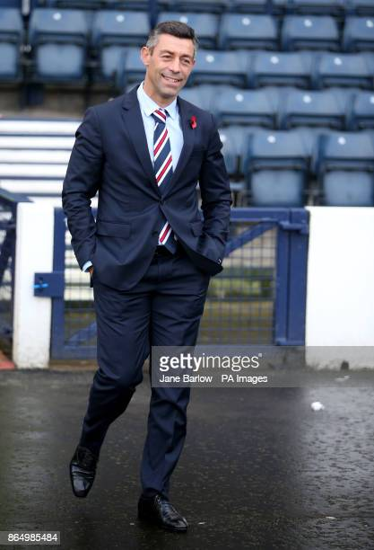 Rangers manager Pedro Caixinha before the Betfred Cup semifinal match at Hampden Park Glasgow