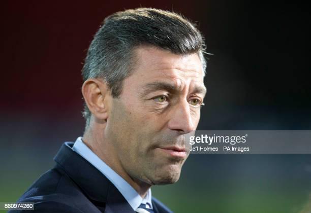 Rangers' manager Pedro Caixinha before the Ladbrokes Scottish Premiership match at McDiarmid Park Perth