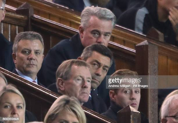 Rangers manager Pedro Caixinha behind owner Dave King during the Scottish Premiership match at Ibrox Glasgow