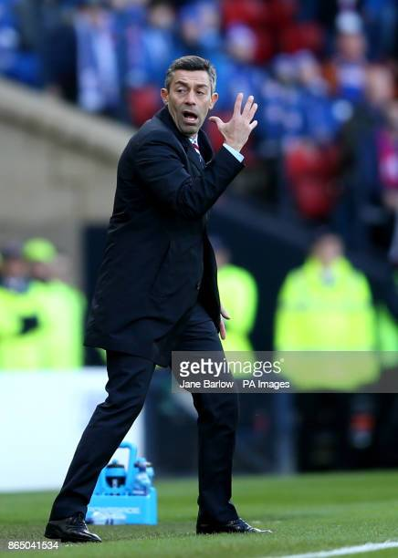 Rangers manager Pedro Caixinha during the Betfred Cup semifinal match at Hampden Park Glasgow