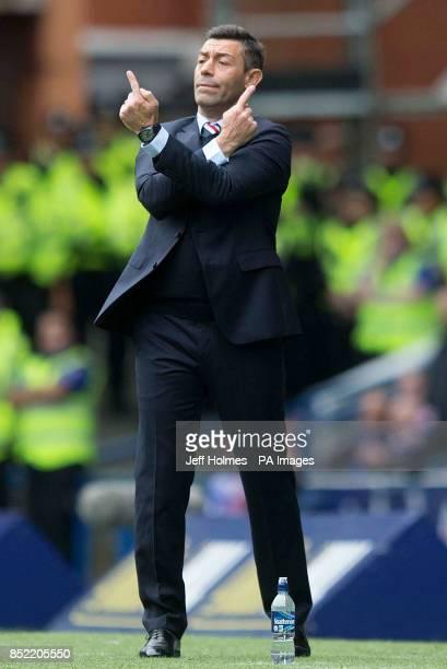 Rangers manager Pedro Caixinha during the Ladbrokes Scottish Premiership game at the Ibrox Stadium Glasgow