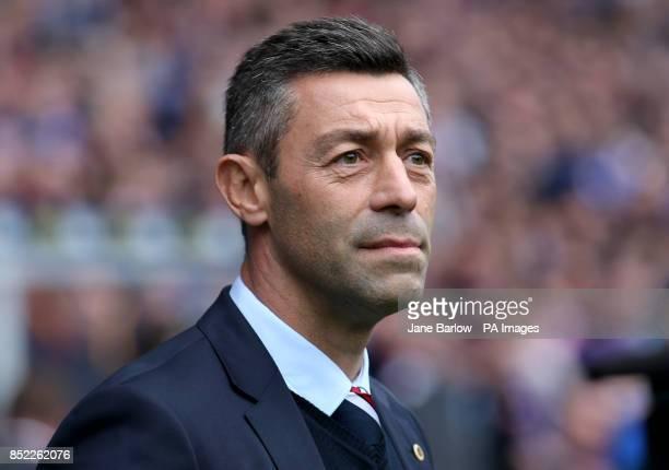 Rangers' manager Pedro Caixinha during the Ladbrokes Scottish Premiership match at the Ibrox Stadium Glasgow