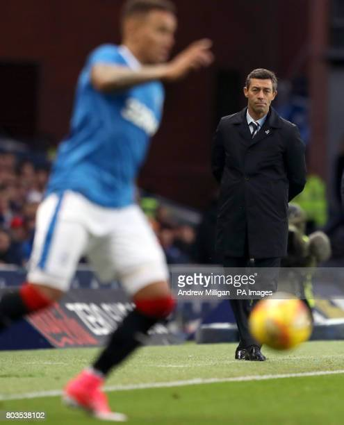 Rangers manager Pedro Caixinha during the UEFA Europa League Qualifying first round first leg match at Ibrox Stadium Glasgow