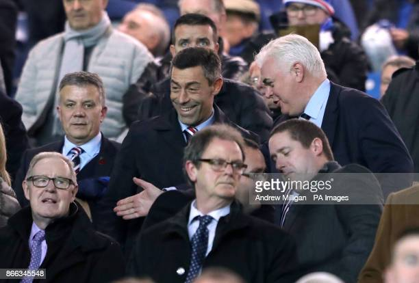 Rangers manager Pedro Caixinha in the stands during the Scottish Premiership match at Ibrox Glasgow