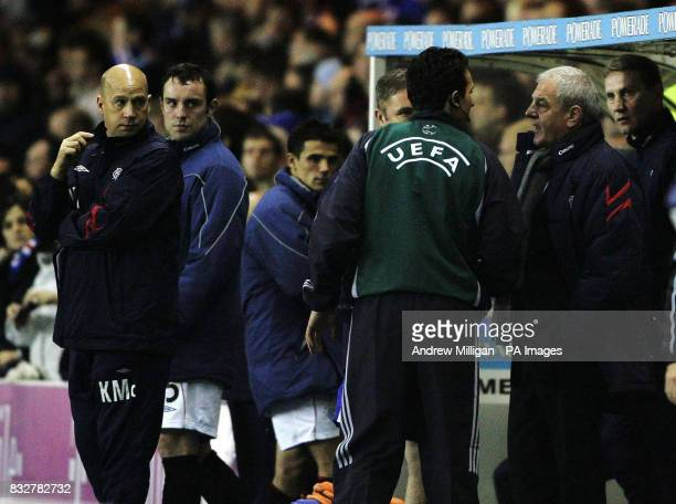 Rangers manager Walter Smith reacts after goalkeeper Alan McGregor was sent off during the UEFA Cup Third Round Second Leg match at the Ibrox Stadium...