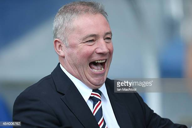 Rangers manger Ally McCoist during the Scottish Championship League Match between Rangers and Dumbarton at Ibrox Stadium on August 23 2014 Glasgow...