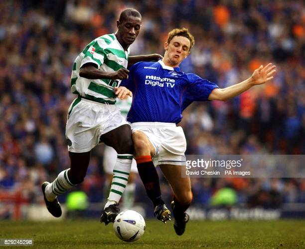 Rangers' Maurice Ross holds off Celtic`s Momo Sylla from the ball during the CIS Insurance Cup final match at Hampden Park Glasgow Rangers defeated...