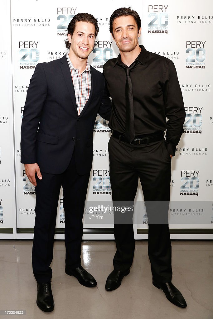 Ê (L-R) NY Rangers Michael Del Zotto and Gilles Marini attend Perry Ellis International celebration of the opening of its new NYC Headquarters at The Hippodrome Building on June 11, 2013 in New York City.Ê