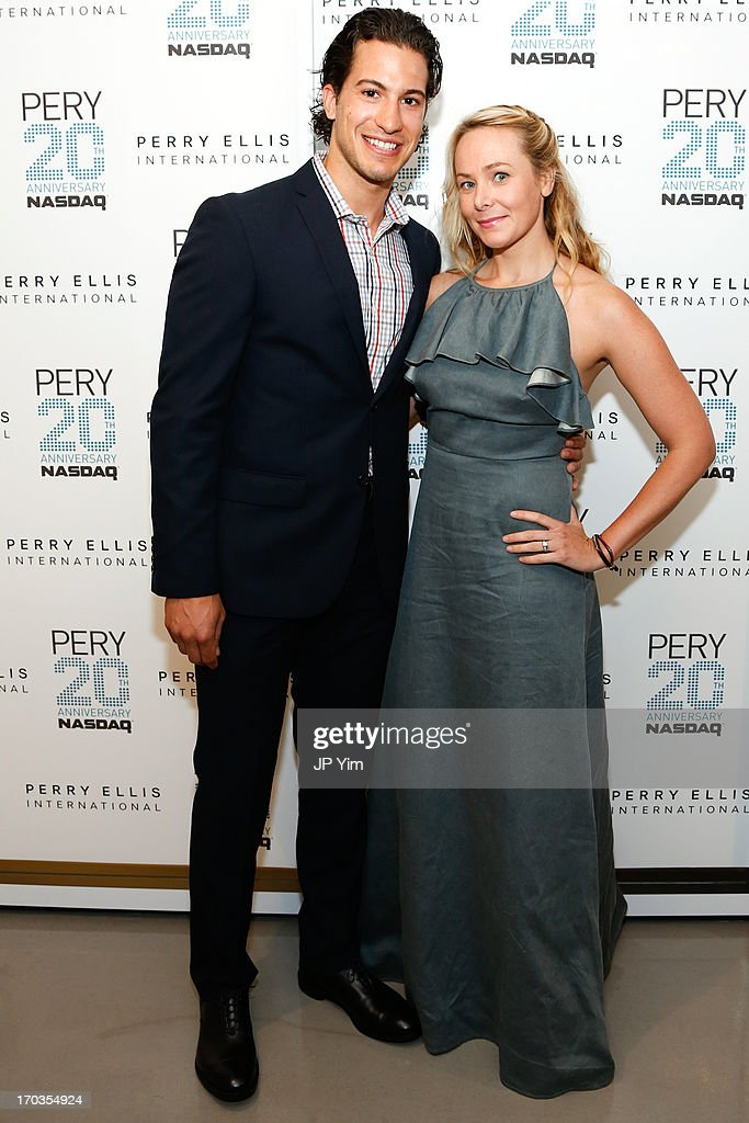Rangers Michael Del Zotto and Nic Screws attend Perry Ellis International celebration of the opening of its new NYC Headquarters at The Hippodrome Building on June 11, 2013 in New York City.Ê