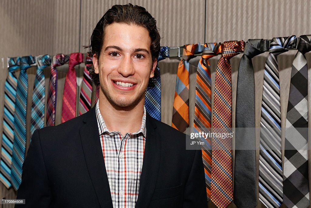 NY Rangers Michael Del Zotto attends Perry Ellis International celebration of the opening of its new NYC Headquarters at The Hippodrome Building on June 11, 2013 in New York City.