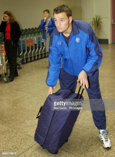 Rangers' newly signed Danish goalkeeper Jesper Christiansen at Glasgow Airport before departing on a flight for Austria ahead of the Rangers v Sturm...