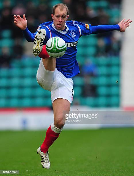 Rangers player Steven Whittaker in action during the Clydesdale Bank Scottish Premier league game between Hibernian and Rangers at Easter Road on...