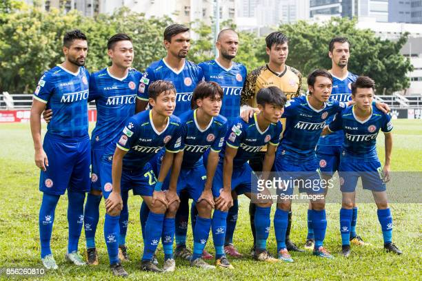 Rangers squad poses for photos during the Hong Kong Premier League Week 4 match between BC Rangers vs Sun Bus Yuen Long at the Sham Shui Po Sports...