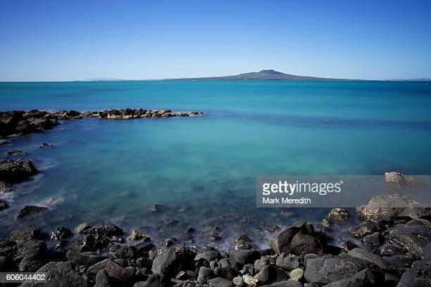 Rangitoto Island with rocks